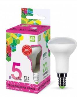 Лампа светодиодная зеркальная LED-R50-standard 5.0Вт 230В Е14 6500K 450Лм ASD