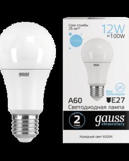Лампа светодиодная LED Elementary A60 12Вт E27 1170лм 6500К  GAUSS