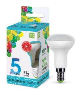 Лампа светодиодная зеркальная LED-R50-standard 5.0Вт 230В Е14 4000K 450Лм ASD