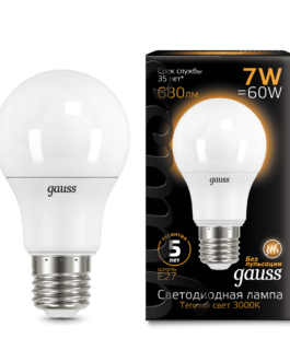 Лампа светодиодная LED Elementary A55 7Вт E27 520лм 2700К  GAUSS
