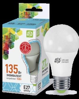 Лампа светодиодная LED-A60-standard 15Вт 4000K /Е27/ 1200Лм.ASD