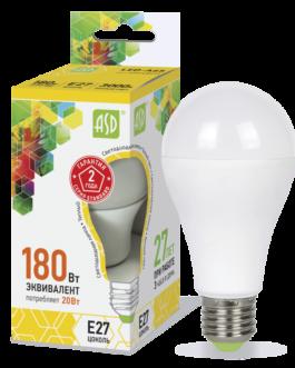 Лампа светодиодная LED-A60-standard 20Вт 3000K /Е27/ 1600Лм.ASD