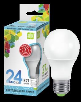 Лампа светодиодная LED-A65-standard 24Вт 4000K /Е27/ 2160Лм.ASD