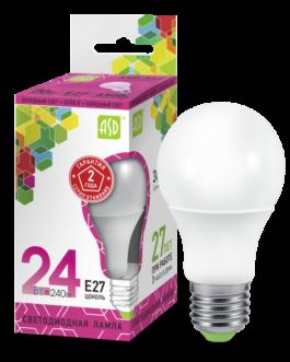 Лампа светодиодная LED-A65-standard 24Вт 6500K /Е27/ 2160Лм.ASD