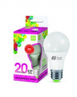 Лампа светодиодная LED-A60-standard 20Вт 6500K /Е27/ 1800Лм.ASD