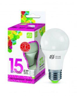 Лампа светодиодная LED-A60-standard 15Вт 6500K /Е27/ 1350Лм.ASD