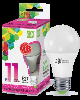 Лампа светодиодная LED-A60-standard 11Вт 6500K /Е27/ 990Лм.ASD