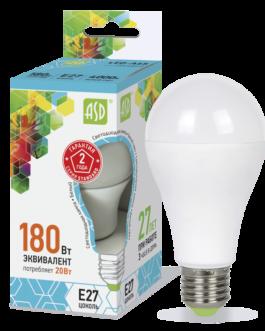 Лампа светодиодная LED-A60-standard 20Вт 4000K /Е27/ 1600Лм.ASD
