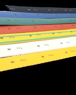 Термоусадочная трубка ТТУ 10/5 желтая/зеленая/красная/черная/белая 1м IEK