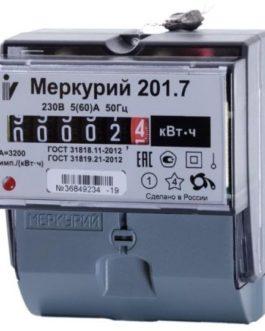 Счетчик Меркурий 201.7 5-60А 1ф (1тариф.)ОУ
