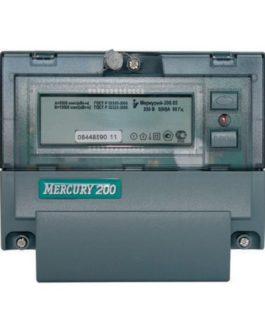 Счетчик Меркурий 200.02 5-60А 1ф (2тариф.рейка) ОУ