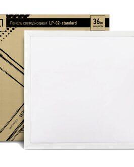Панель светодиодная LP-02-PRO 36Вт 230В 4000К 2700Лм 595х595х8мм БЕЗ ЭПРА белая IP40 LLT
